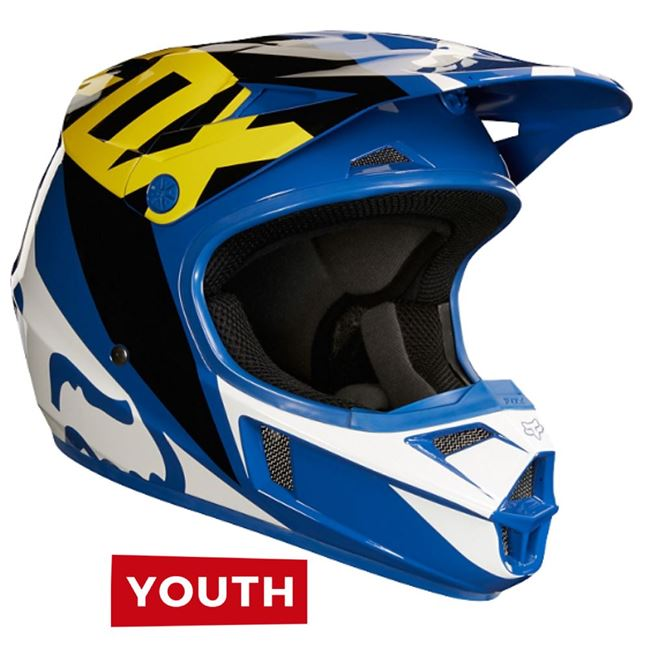 Fox Youth V1 Race Blue