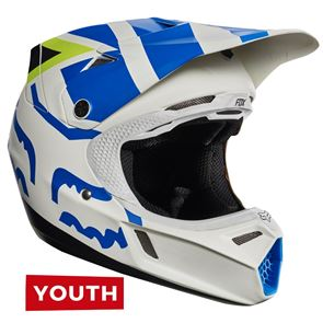 Fox Youth V3 Creo White/Yellow