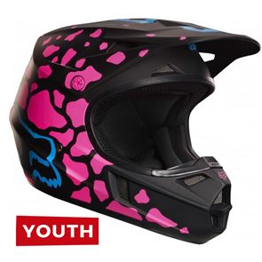 Fox Youth V1 Grav Black/Pink