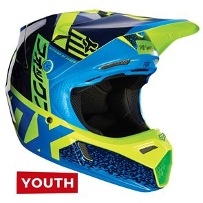 Fox Youth V3 Creo Blue/Green