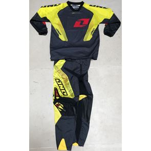 One Industries Youth Carbon Carrera Red/Yellow Kit
