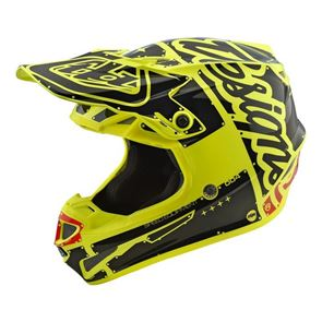 Youth Troy Lee Designs SE4 Factory Yellow Helmet