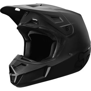 Fox V2 Matt Black 2019 Helmet With A Free Set Off Air Space Goggles