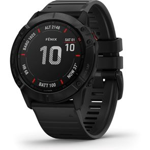 Fenix 6X Pro GPS Watch - Black with Black Band