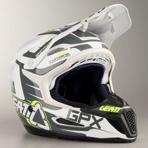 Leatt Helmet GPX 5.5 V03 Black/White/Lime