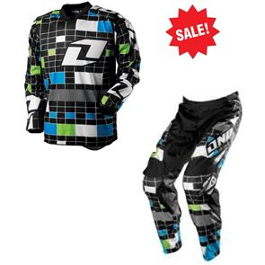 One Industries Youth Carbon Test Pattern Black/Green Kit